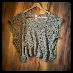 Soft Gray Lace Sweater Top